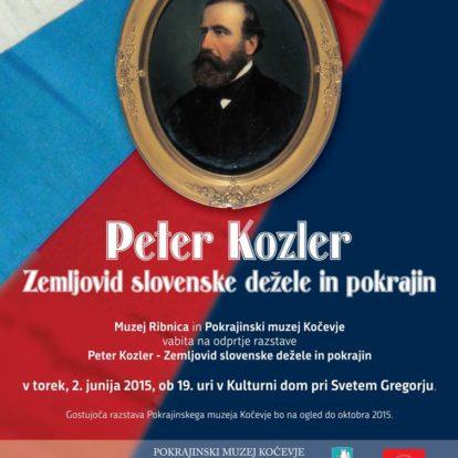 Odprtje razstave Peter Kozler: Zemljovid slovenske dežele in pokrajin