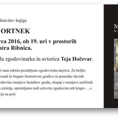 Predstavitev knjige Gospostvo Ortnek