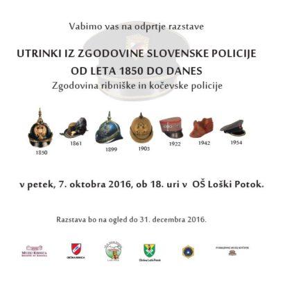 Odprtje razstave Utrinki iz zgodovine slovenske policije od leta 1850 do danes: Zgodovina kočevske in ribniške policije