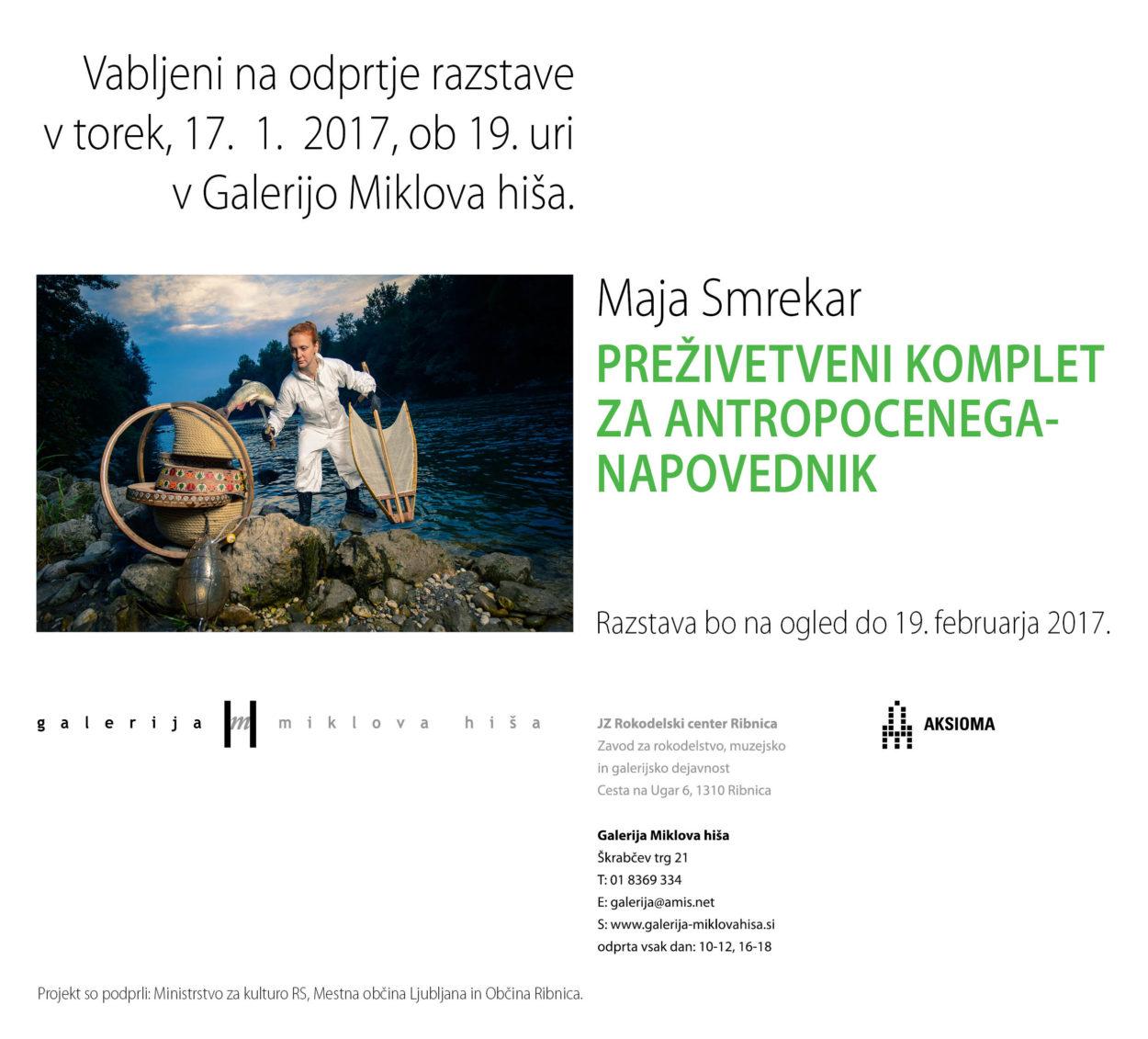 Odprtje razstave Maje Smrekar: Preživetveni komplet za Antropocenega: napovednik