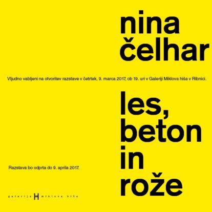 Odprtje razstave Nine Čelhar: Les