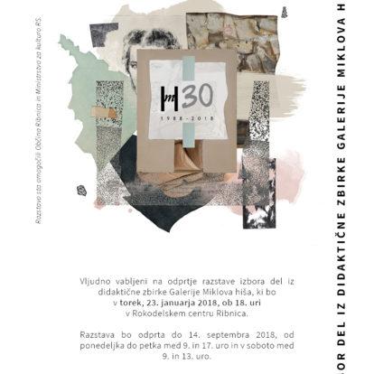 Odprtje razstave Izbor del iz didaktične zbirke Galerija Miklova hiša