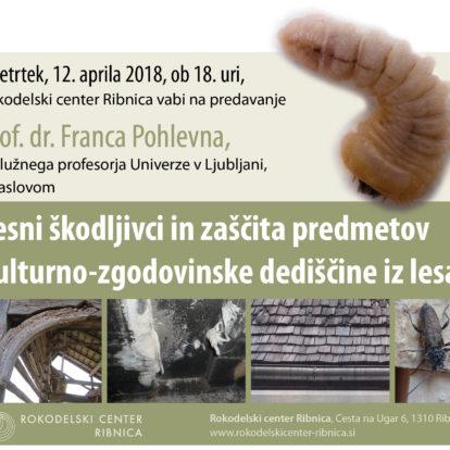Predavanje o lesnih škodljivcih in zaščiti kulturno-zgodovinske dediščine