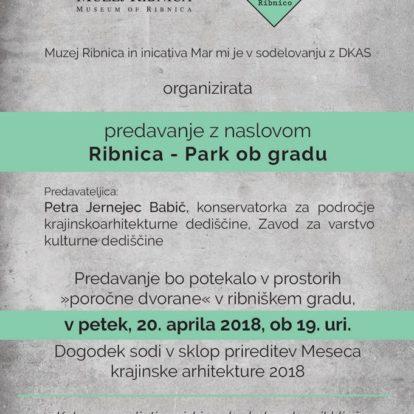 Predavanje z naslovom Ribnica - Park ob gradu