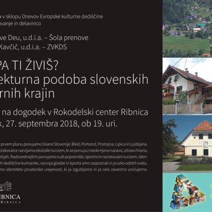 Muzej Ribnica vabi v sklopu Dnevov Evropske kulturne dediščine na predavanje in delavnico
