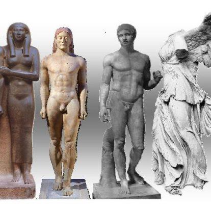 Razvoj človeške figure v likovni umetnosti od prazgodovine do konca antike