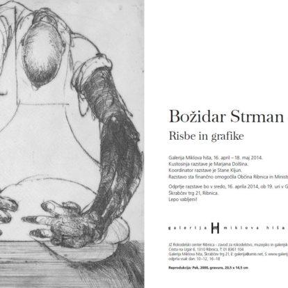odprtje razstave Božidar Strman – Mišo. Risbe in grafike.